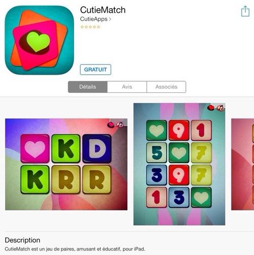 [appli gratuite] CutieMatch