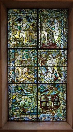 chapelle foujita vitrail