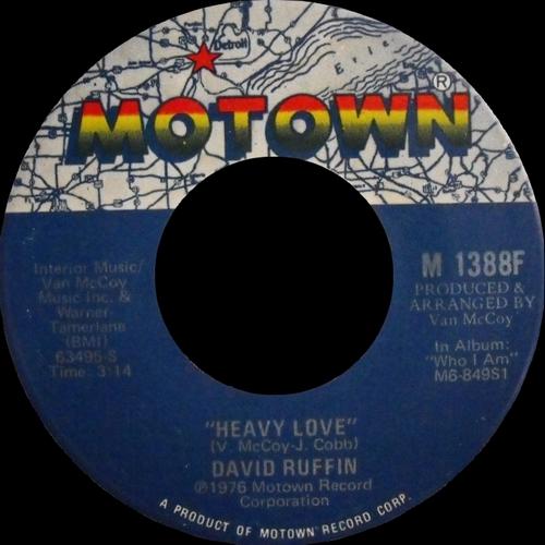 """David Ruffin : Album """" Who I Am """" Motown Records M6-849 S1 [ US ]"""