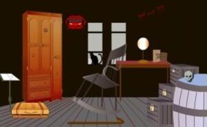 Dark Halloween room escape