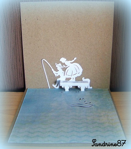 kirigami à la pêche
