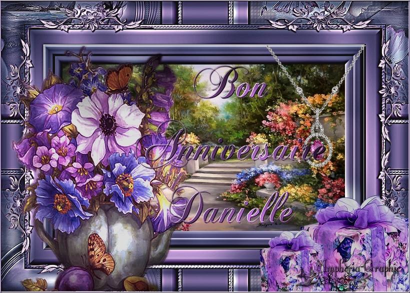Très bon et heureux Anniversaire ma douce Danielle