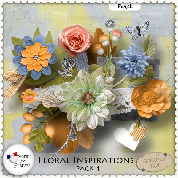 Floral Inspirations Vol 1 par Scrap de Yas