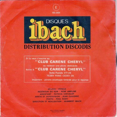 Carene (Karen) Cheryl - Samedi, Dimanche Et Fetes (1976)