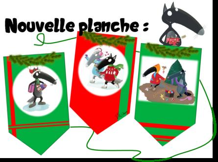 Décoration de Noël - Fanions Loup