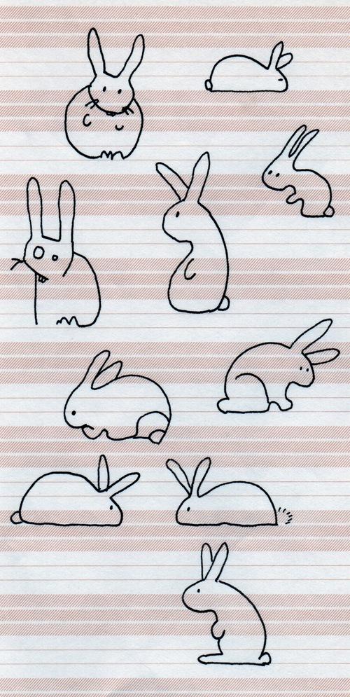 Déclinaison de lapins