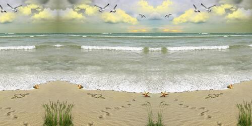 sur la plage !