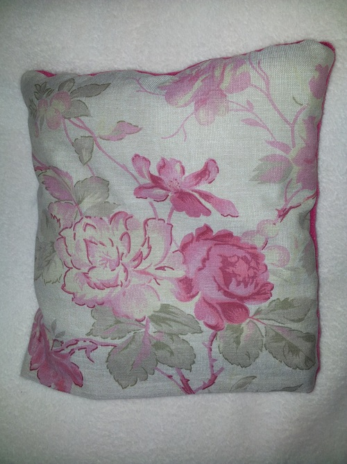 Couture - Coussin plaid rose