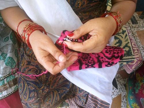 Le tricot indien de New Dehli