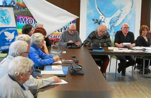 Le président Christian Collimard a présenté, samedi, les projets locaux du Mouvement de la Paix pour 2018.
