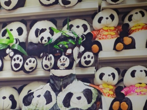 Liu Bolin Hide in the City pandas