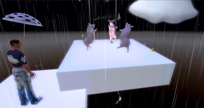Les 3 Petits cochons sous la pluie