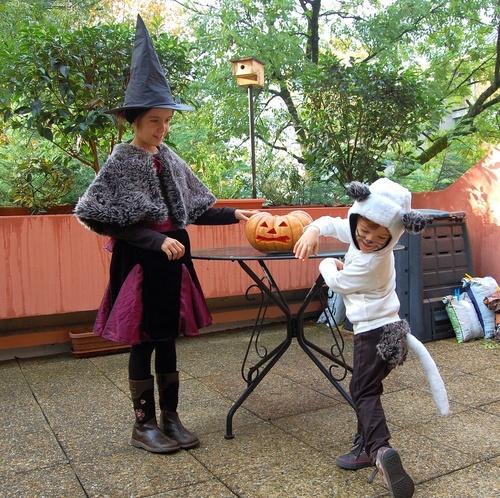 Deguisement, Halloween, sorcière, chat, enfant, couture, loisirs créatifs