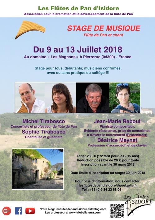 STAGE Flute de Pan et Chant Forcalquier 2018