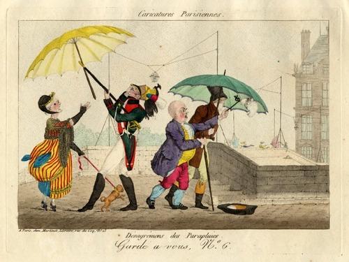 Caricatures... et parapluies