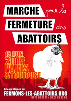 Le 15 Juin - Marche pour la fermeture des Abattoitrs
