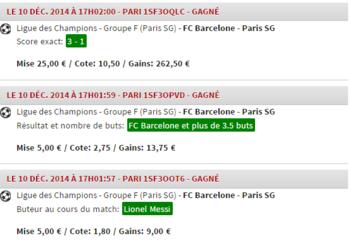 - Barça VS PSG au Camp Nou