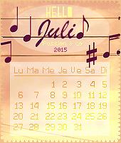 ► Calendrier de juillet 2015
