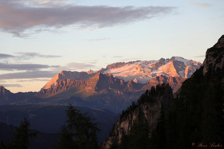 Trek dans les Dolomites, refuge Gardenacia, Italie