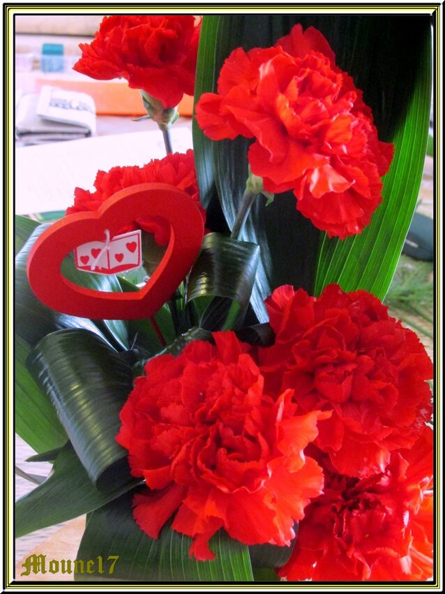 Cours d'art floral de février et mars 2016