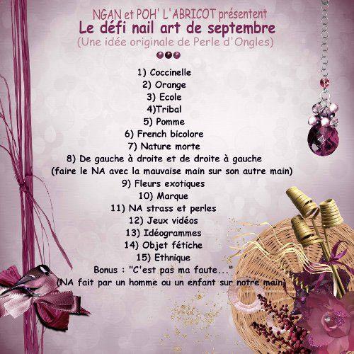 Défis Septembre