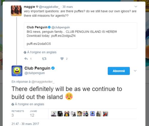 Bientôt : igloos et puffles sur l'Île de Club Penguin