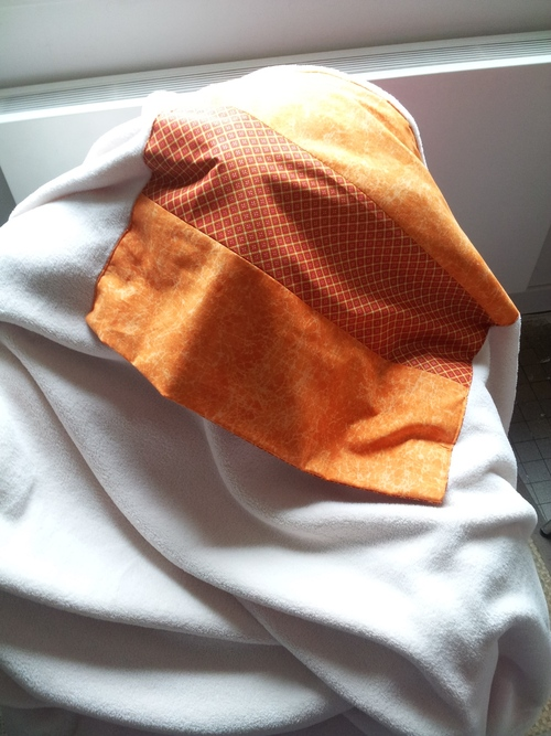 Couture - Coussin Plaid Créades Breizh orange