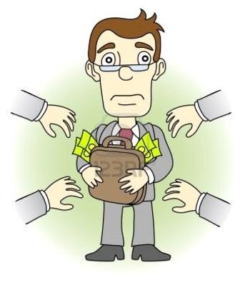 9511894-businessman-greed-man-money--illustration