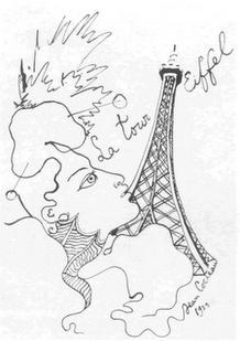 la tour Eiffel, Jean Cocteau