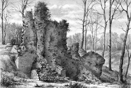 Ruines gallo-romaines de Saint-Cybardeaux au XIXe siècle