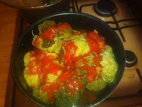 Chou farci au riz et protéine de soja {Vegan}