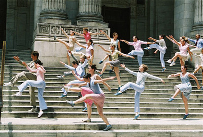 dance ballet on stair dancers