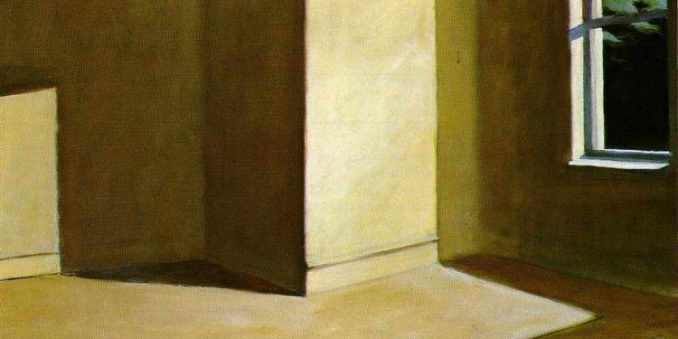 Crédit d'image: Soleil dans une pièce vide (détail), Edward Hopper, 1963, collection privée.