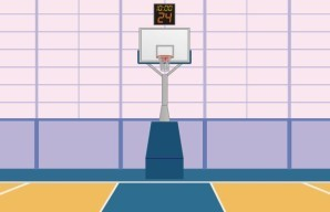 Basketball arena escape