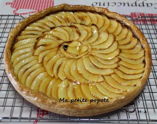 Tarte aux pommes et aux châtaignes