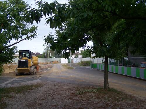Début du chantier, entrée principale