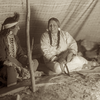 Inside the tipi. Crow. Early 1900s. Photo by Richard Throssel. Source - University of Wyoming,