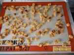 Verrines patissières aux pommes et dés de pain dépices
