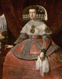 Portrait de la reine Marie-Anne, par Diego Vélasquez, vers 1655, huile sur toile, 128,8 x 99 cm, Vienne, Kunsthistorisches Museum.