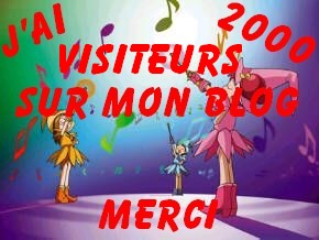 Merci 2000 visiteurs yes!!!