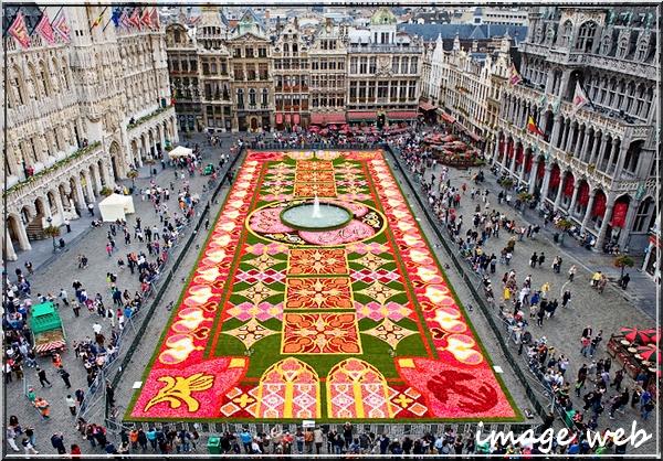 Tapis de fleurs sur la Grand-Place de Bruxelles
