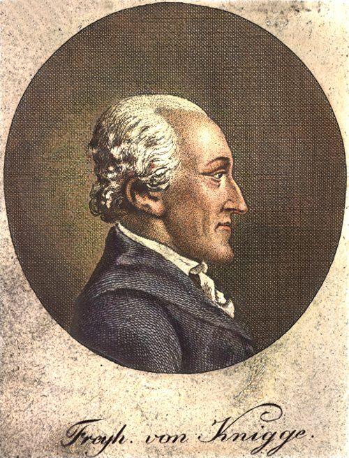 Adolph Freiherr von Knigge (1752-1796) en 1796. Gravure de Wilhelm Arndt (1750-1813)