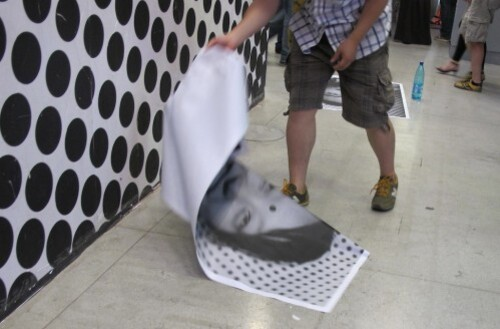 JR inside out Beaubourg portrait 2