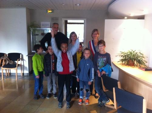 Interview de Mme le maire par Gaethan, Matéo, Clément et Elouan