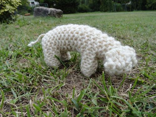 Petit mouton tricoté