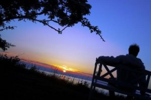 silhouette coucher de soleil