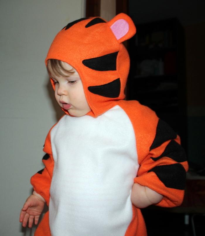 Un bébé tigre à la maison