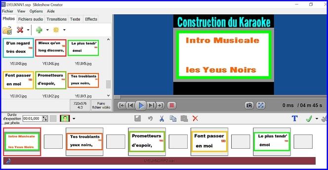 """Méthode de construction de karaoke simple au"""" Roses Joyeuses"""""""