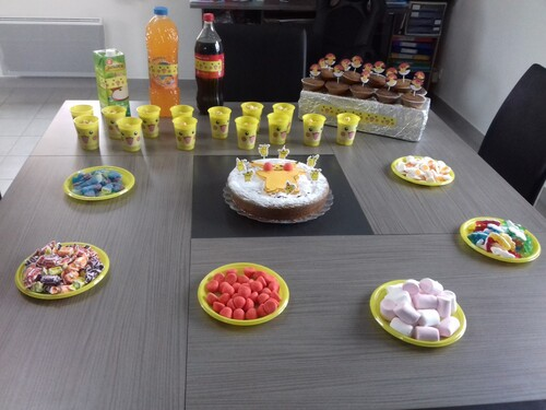 table anniversaire pikachu