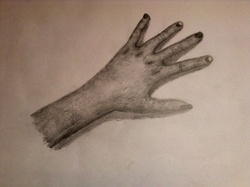Loup et mains